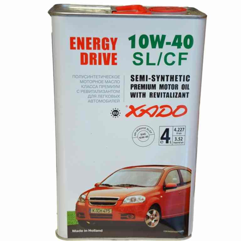 XADO Atomic Oil 10w40  SL/CF  4л (легковой)