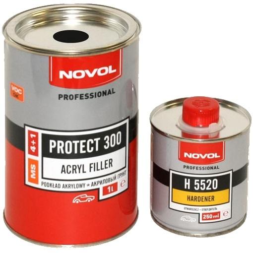 Novol 300 4+1 грунт акриловый  (серый)