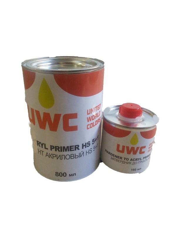 UWC грунт 5+1 0,8л акрил. бел.