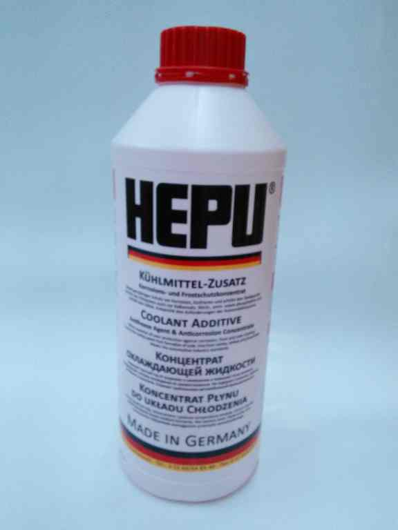 HEPU P999 G12 антифриз красный конц.  1,5л